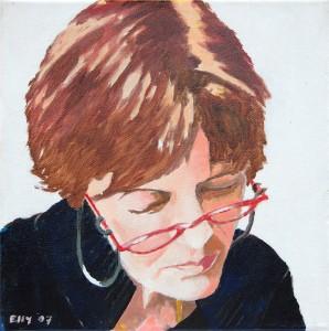 Zelfportret, Elly Kalf, 2007