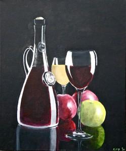 Appel en wijn, Elly Kalf